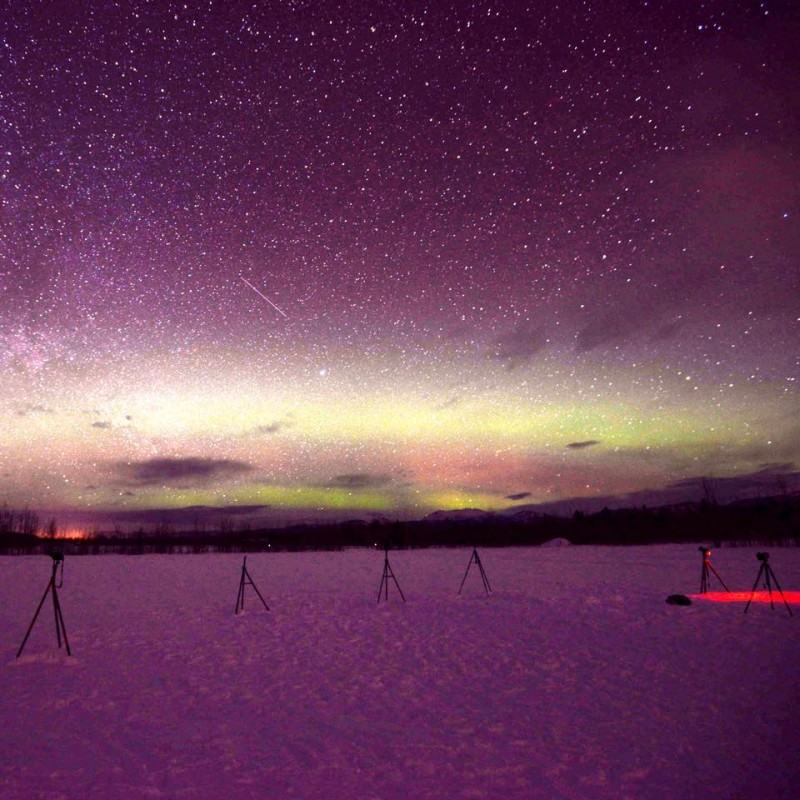 Northern Lights Outside Whitehorse (Yukon Territory, Canada)