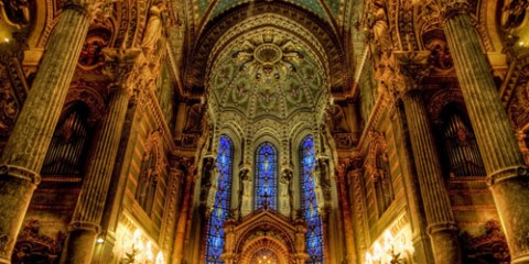 Inside Notre Dame Cathedral, Lyon
