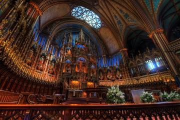 Inside Notre-Dame Cathedral, Montreal, Quebec