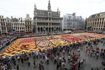 A picture shows the Flower Carpet 2012 o