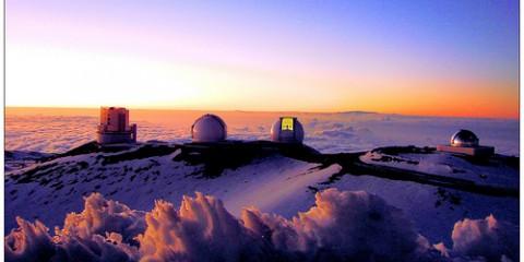 Astronomy Observatory on Mauna Kea, Hawaii
