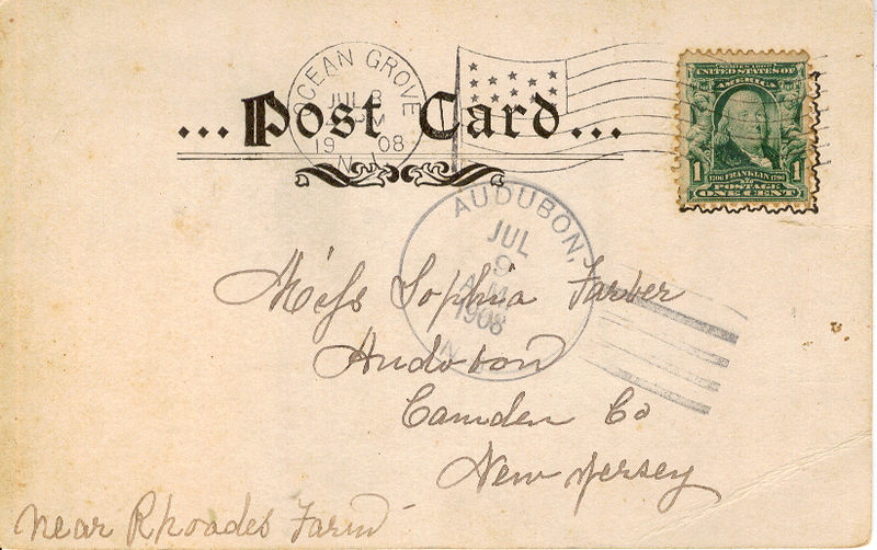 Ocean Grove Post Card