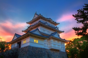 Sunset Over Odawara Castle, Japan