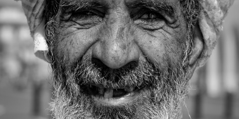Old Man Smiling, Oman