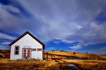 Lone One-room Schoolhouse, Montana