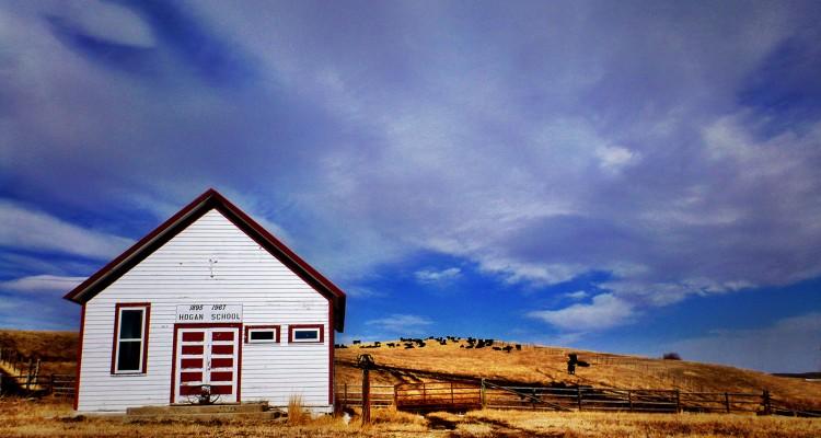 Lone One-room Schoolhouse, Montana