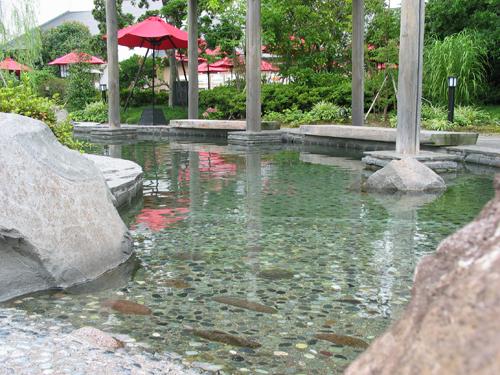Foot Bath at Ooedo-Onsen-Monogatari, Tokyo, Japan