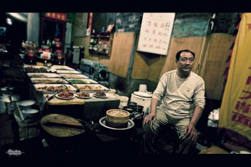 Open Air Restaurant in Pingyao, China