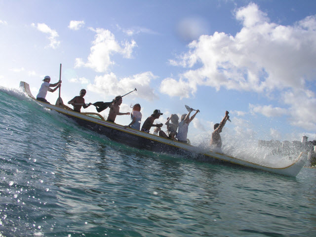 Outrigger Canoe Ride, Waikiki Beach Services, Oahu, Hawaii