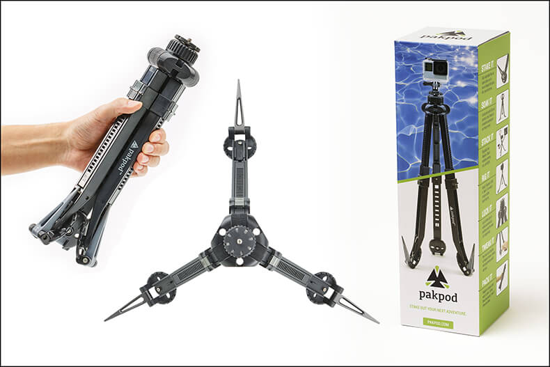 Pakpod Travel Tripod Kit