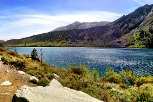 Panorama of Convict Lake, California