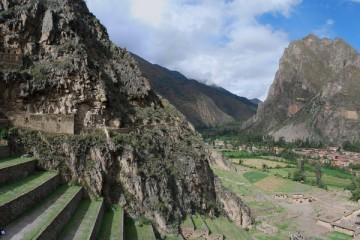 Panorama of Ollantaytambo Ruins, Peru