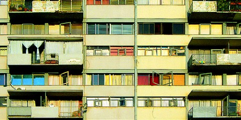 Patchwork Urban Facade in Santiago, Chile