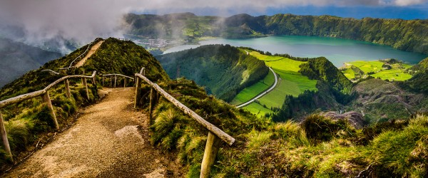 Pathway to the Twin Lakes, Sao Miguel, Azores