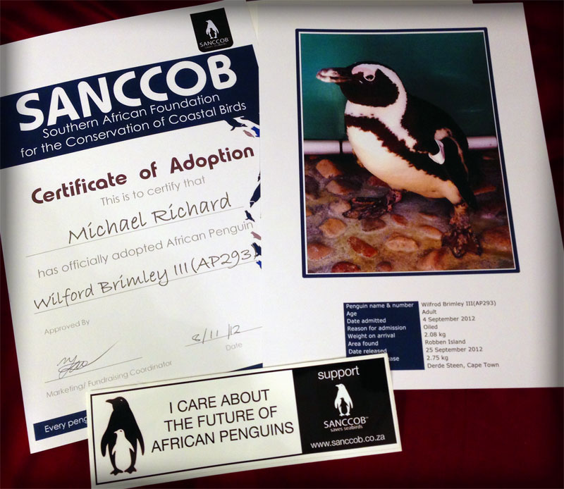 Penguin Adoption Packet, SANCCOB