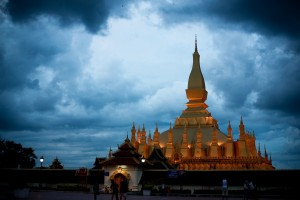 Black Sky Over Pha That Luang, Vientiane, Laos