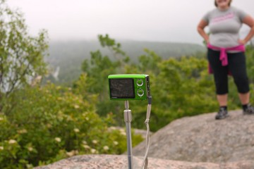 Photojojo's Twig Pod Travel Monopod on Gorham Mountain in Acadia National Park