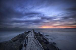 Pier stretching into the Pacific Ocean in El Segundo, California
