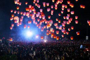 Pingxi (Pingsi) Sky Lantern Festival, Taiwan