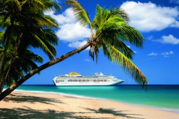P&O Cruises Oceana Ship in the Caribbean