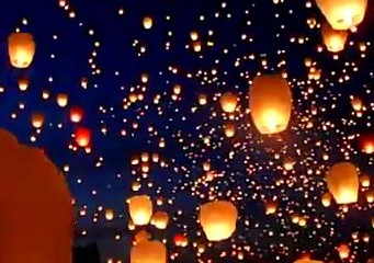Paper Lanterns Release to Celebrate Summer Solstice, Poland (video screenshot)