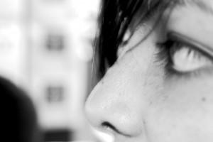 Woman Pondering (closeup)