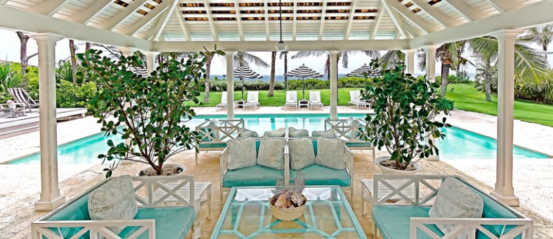 Pool Area at Dunmore Beach Resort, Harbour Island, Bahamas