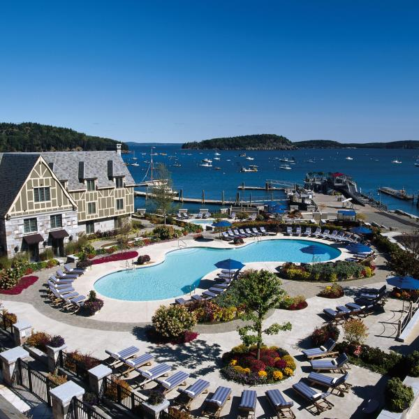 Pool at Harborside Hotel in Bar Harbor, Maine