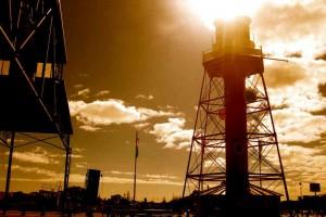 High Sun Over Port Adelaide, South Australia