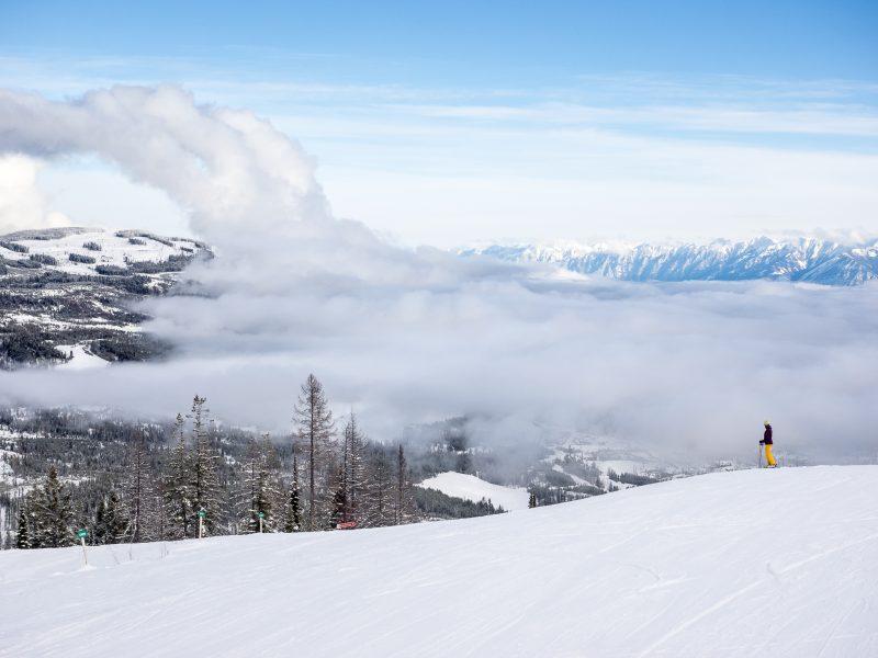 Powder Skiing at Kimberley Ski Resort, BC
