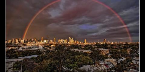 Rainbow Over Sydney Australia