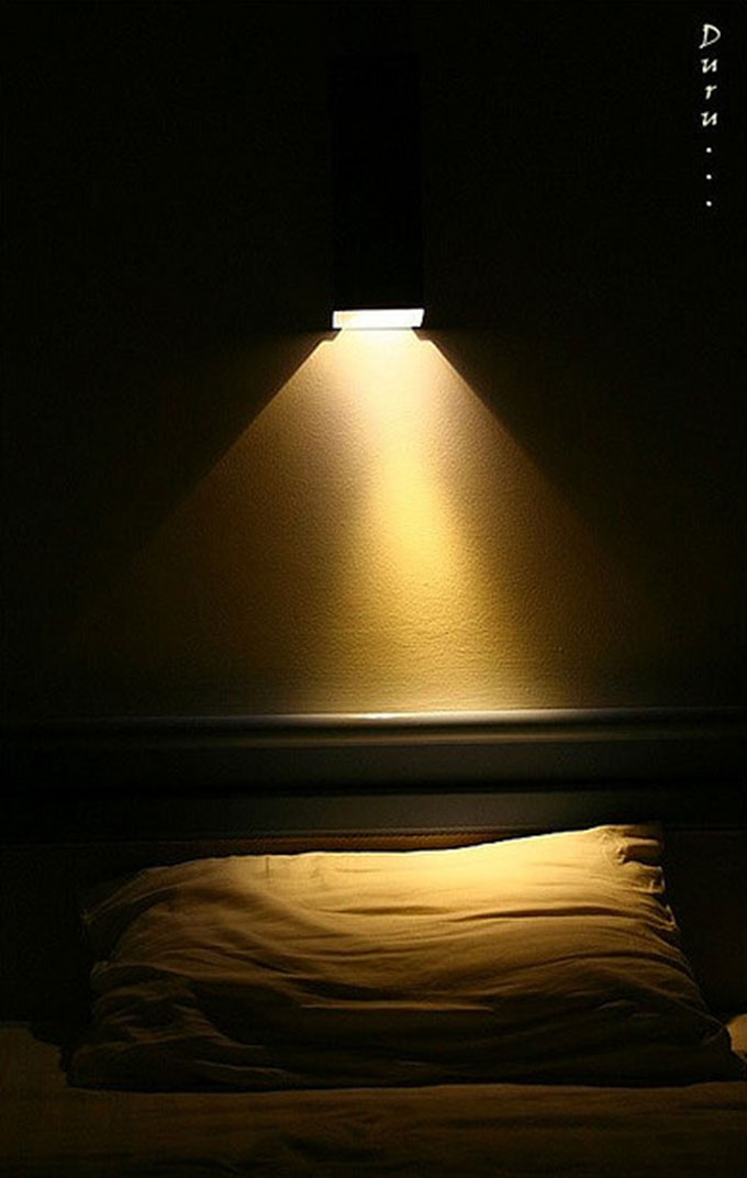 Reading Lamp Over Hotel Bed