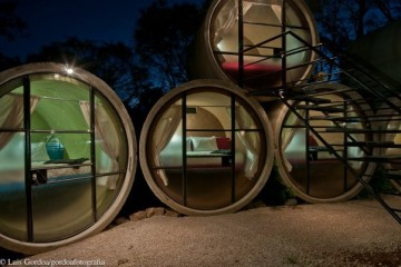Tubohotel: Mexico's Recycled Concrete Tube Hotel