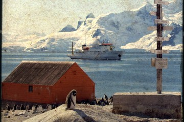 Red Building in Antarctica