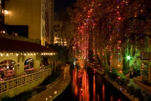 Riverwalk at Christmas, San Antonio, Texas
