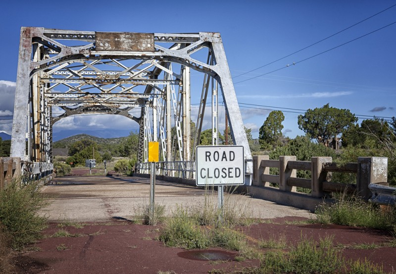 Road Closed Sign, Arizona