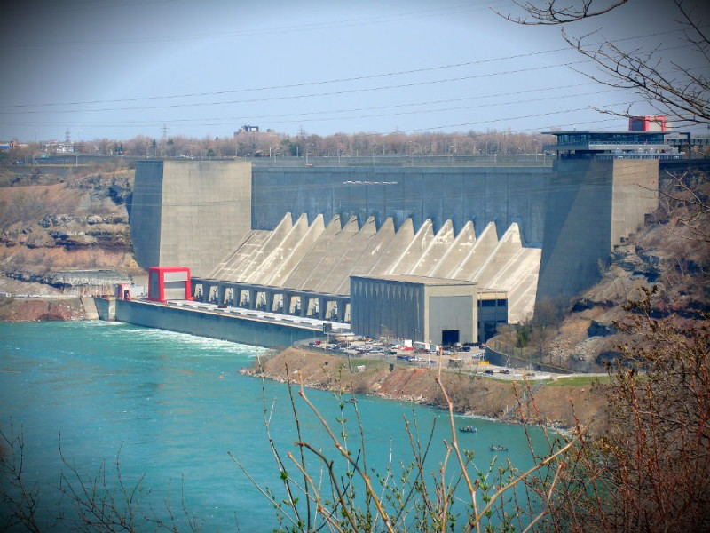 Robert Moses Hydroelectric Power Station in Niagara Falls, New York