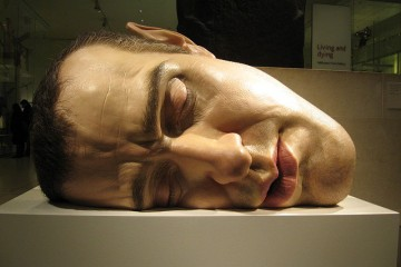 Hyperrealistic Head Sculpture by Ron Mueck