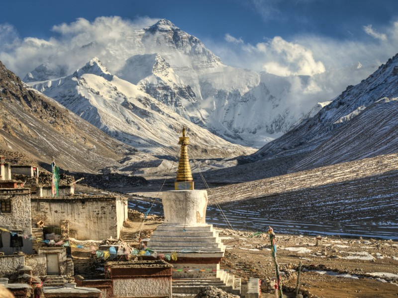 Rongbuk monastery at Mount Everest Base Camp, Tibet