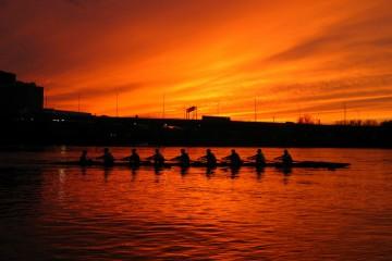Rowers of the Charles Regatta, Cambridge, Massachusetts