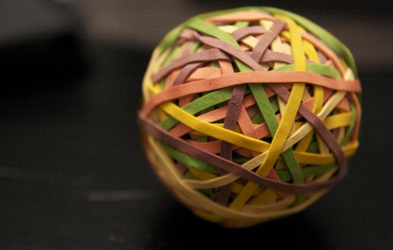 Rubber Band Ball (closeup)