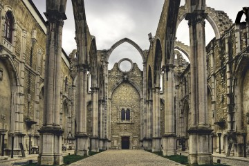 Ruins of Igreja do Carmo, Lisbon, Portugal