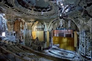 Ruins of Detroit's Michigan Theater (interior)