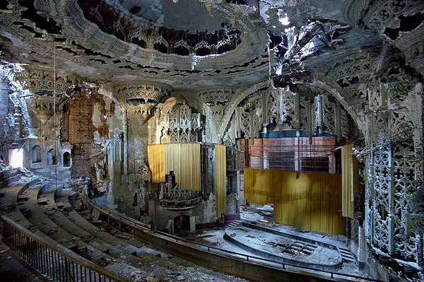 Ruins of Detroit's Michigan Theater (interior)