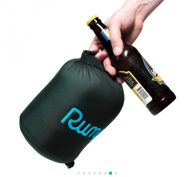 Rumpl 2-person Down Puffy Blanket (with a beer in hand)