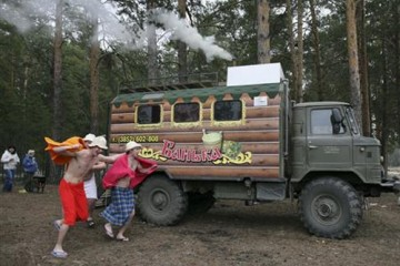 Sauna on Wheels, Russia