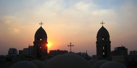 Cairo's St. Markos Church at sunset