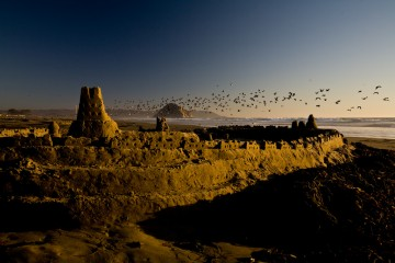 Sandcastle at Sunset, Morro Bay, California