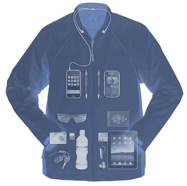 Scottevest transformer jacket the travel jacket vest that doubles as carry on luggage vagabondish for Travel gear hidden pocket