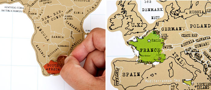Clever ScratchOff Map Evolves As You Travel Vagabondish – World Traveler Maps